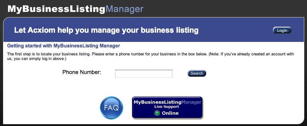 Acxiom - MyBusinessListingManager