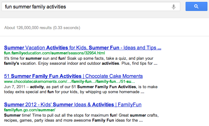 Search Results for Fun Summer Family Activities