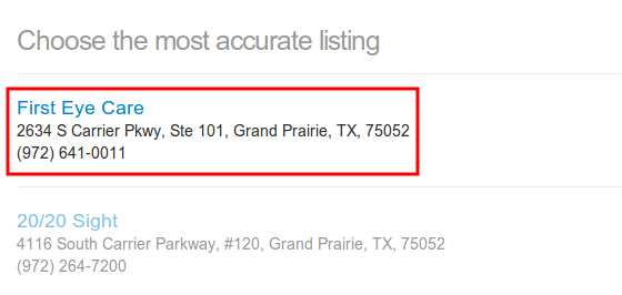 GetListed.org most accurate listing