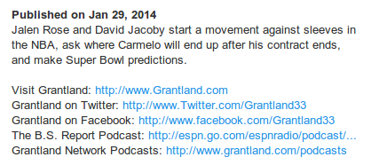 Grantland YouTube description example