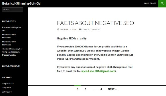 negative SEO site